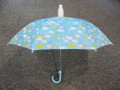Children's Light Blue No-Drip Umbrella - Clouds