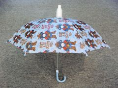 Children's Light Blue Umbrella - Sheriff/Animals