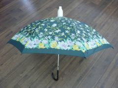 Green, Yellow and White Floral No-Drip Umbrella