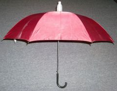 Maroon No-Drip Umbrella with Black Handle