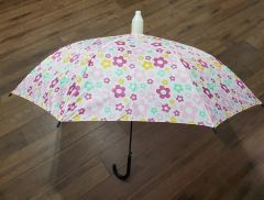 Multicolor Flowers No-Drip Umbrella