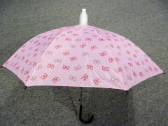 Pink with Dots and Bowties No-Drip Umbrella