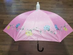 Pink with Blue and Yellow Floral No-Drip Umbrella