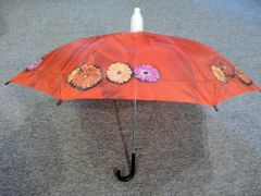 Red Floral No-Drip Umbrella