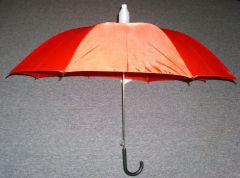 Red No-Drip Umbrella with Black Handle